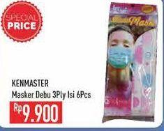 Promo Harga KENMASTER Masker 6 pcs - Hypermart