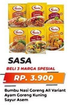 Promo Harga SASA SASA Bumbu Nasi Goreng All Variant, Ayam Goreng Kuning, Sayur Asem  - Yogya