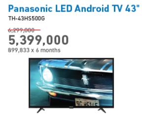 Promo Harga PANASONIC TH-43HS500G   Android TV   - Electronic City