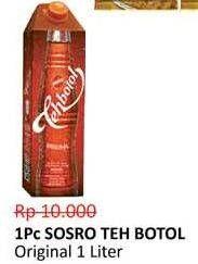 Promo Harga SOSRO Teh Botol Original 1000 ml - Alfamidi