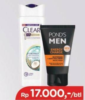 Promo Harga CLEAR Shampoo Coconut Rice Freshness 160 ml - TIP TOP