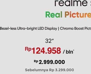 Promo Harga REALME Smart TV LED 32 Inch  - Erafone