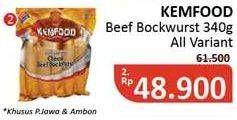 Promo Harga KEMFOOD Sosis Beef Brockwurst All Variants 340 gr - Alfamidi