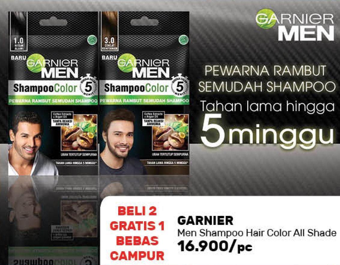 Promo Harga GARNIER MEN Shampoo Color All Variants 10 ml - Guardian