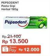Promo Harga PEPSODENT Pasta Gigi Action 123 Herbal 190 gr - Indomaret
