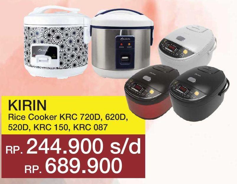Promo Harga KIRIN Rice Cooker  - Yogya