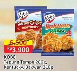 Promo Harga KOBE Tepung Bumbu Tempe Goreng Kriuk, Bakwan, Super Crispy 200 gr - Alfamart