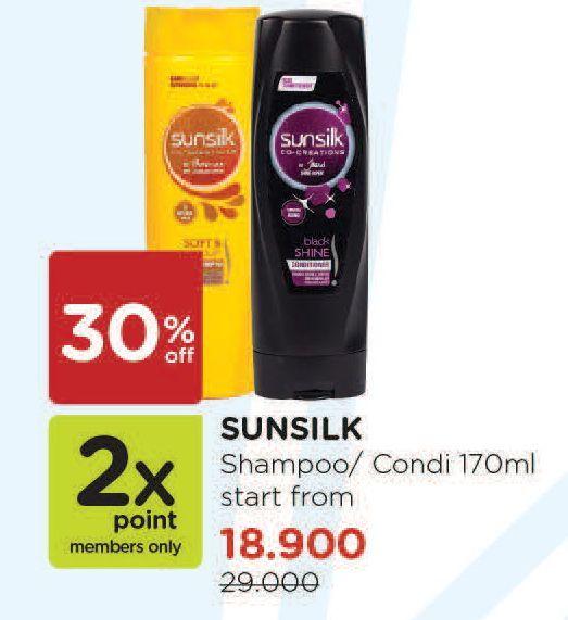 Promo Harga SUNSILK SUNSILK Co- Creation Shampoo/Conditioner 170ml  - Watsons