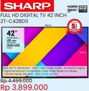 "Promo Harga SHARP 2T-C42BD1i   LED TV 42""  - Courts"