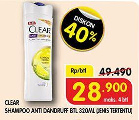 Promo Harga CLEAR Shampoo 320 ml - Superindo