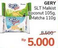 Promo Harga GERY Malkist Saluut Coconut, Saluut Matcha Latte 105 gr - Alfamidi