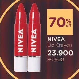 Promo Harga NIVEA Lip Crayon All Variants 3 gr - Watsons