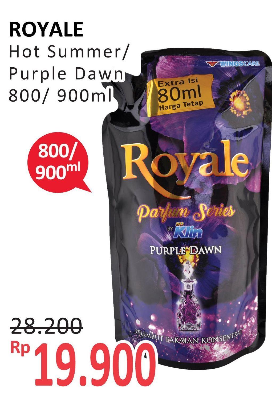 Promo Harga SO KLIN Royale Parfum Collection Hot Summer, Purple Dawn 800 ml - Alfamidi