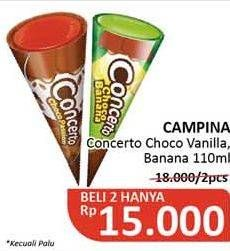Promo Harga CAMPINA Concerto Choco Banana, Choco Passion 110 ml - Alfamidi
