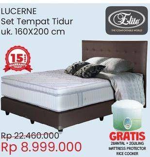 Promo Harga ELITE Lucerne Complete Bed Set 160x200cm  - Courts