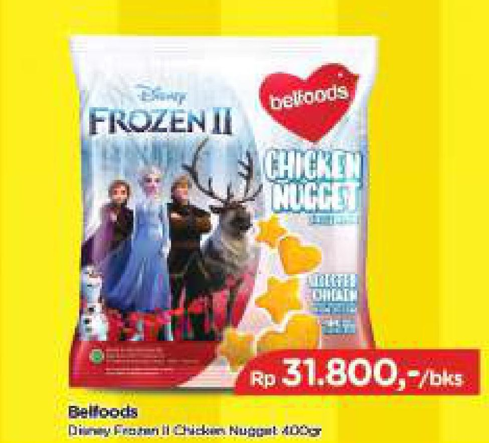 Promo Harga BELFOODS Nugget Chicken Nugget Frozen 400 gr - TIP TOP
