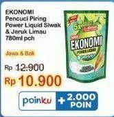 Promo Harga EKONOMI Pencuci Piring Power Liquid Siwak Jeruk Limau 780 ml - Indomaret