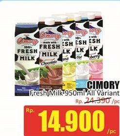 Promo Harga CIMORY Fresh Milk All Variants 950 ml - Hari Hari