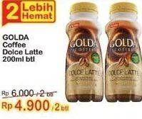 Promo Harga GOLDA Coffee Drink Dolce Latte 200 ml - Indomaret