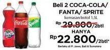 Promo Harga COCA COLA Coca-Cola/ Fanta/ Sprite  - Indomaret