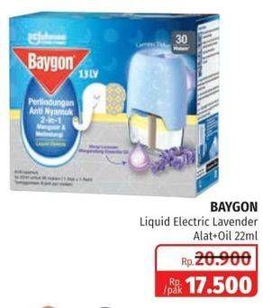 Promo Harga BAYGON Liquid Electric Lavender 22 ml - Lotte Grosir