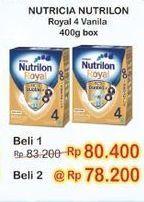 Promo Harga NUTRILON Royal 4 Susu Pertumbuhan Vanila 400 gr - Indomaret