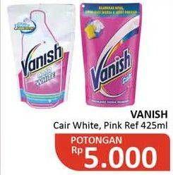 Promo Harga VANISH Penghilang Noda Cair Putih, Pink 425 ml - Alfamidi