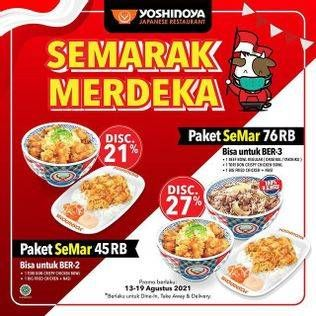 Promo Harga YOSHINOYA Paket SeMar Bertiga (1 Beef Bowl Regular (Original/Yakiniku), 1 Tori Don Crispy Chicken Bowl, 1 Big Fried Chicken + Nasi)  - Yoshinoya