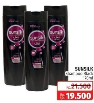 Promo Harga SUNSILK Shampoo Black Shine 170 ml - Lotte Grosir