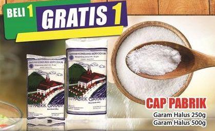 Promo Harga CAP PABRIK Garam Halus 250 gr - Hari Hari