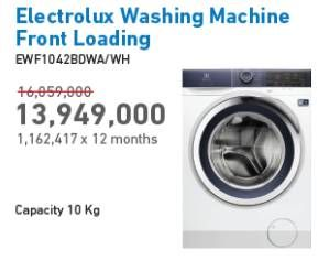 Promo Harga ELECTROLUX EWF1042BDWA Mesin Cuci  - Electronic City
