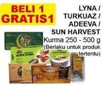 Promo Harga LYNA LYNA/TURKUAZ/ADEEVA/SUN HARVEST Kurma 250 - 500gr  - Giant