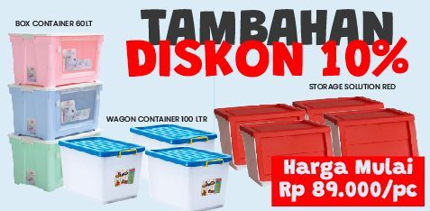 Promo Harga LION STAR Wagon Container All Variants 30000 ml - Courts