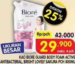 Promo Harga BIORE BIORE Body Wash 800 mL  - Superindo