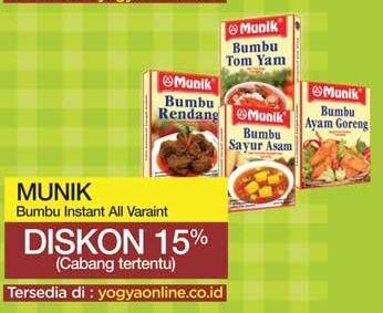 Promo Harga MUNIK Bumbu All Variants 70 gr - Yogya