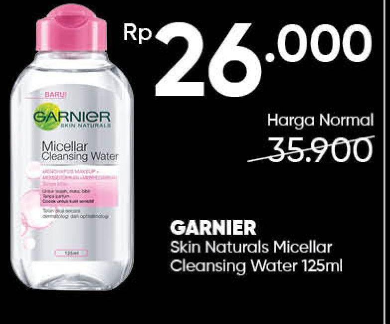 Promo Harga GARNIER Micellar Water 125 ml - Guardian