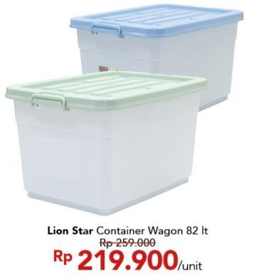 Promo Harga LION STAR Wagon Container  - Carrefour