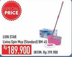 Promo Harga LION STAR Livina Spin Mop BM-45  - Hypermart