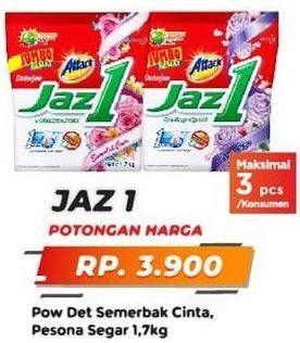 Promo Harga ATTACK Jaz1 Detergent Powder Semerbak Cinta, Pesona Segar 1700 gr - Yogya