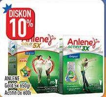 Promo Harga ANLENE ANLENE Gold Plus 5x Hi-Calcium/ANLENE Actifit Susu High Calcium   - Hypermart