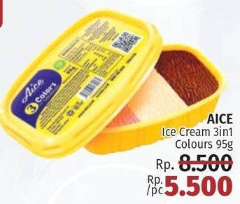 Promo Harga AICE Ice Cream 3 In 1 95 gr - LotteMart