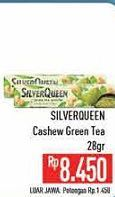 Promo Harga SILVER QUEEN Chocolate Green Tea 28 gr - Hypermart