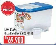 Promo Harga LION STAR Oriza Rice Box 6500 gr - Hypermart