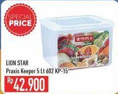 Promo Harga LION STAR Praxis Keeper 5000 ml - Hypermart