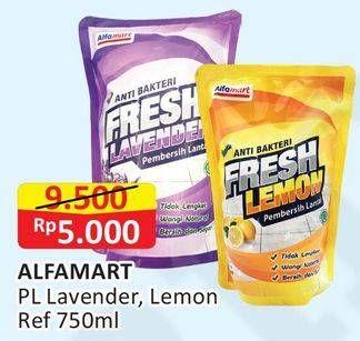Promo Harga ALFAMART Pembersih Lantai Lavender, Lemon 750 ml - Alfamart