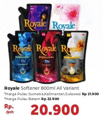 Promo Harga SO KLIN Royale Parfum Collection All Variants 800 ml - Carrefour