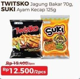 Promo Harga TWISTKO 2 pc TWISTKO/ SUKI Snack   - Alfamart