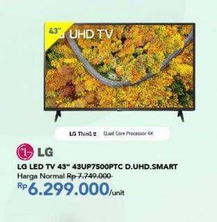 "Promo Harga LG 43UP7500PTC   4K Smart UHD TV 43""  - Carrefour"