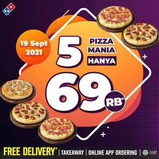 Promo Harga DOMINOS Pizza Mania  - Domino Pizza