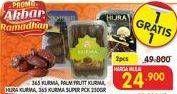 Promo Harga 365 365 Kurma/PALM FRUIT Kurma/HIJRA Kurma/365 Kurma Super 250 g  - Superindo